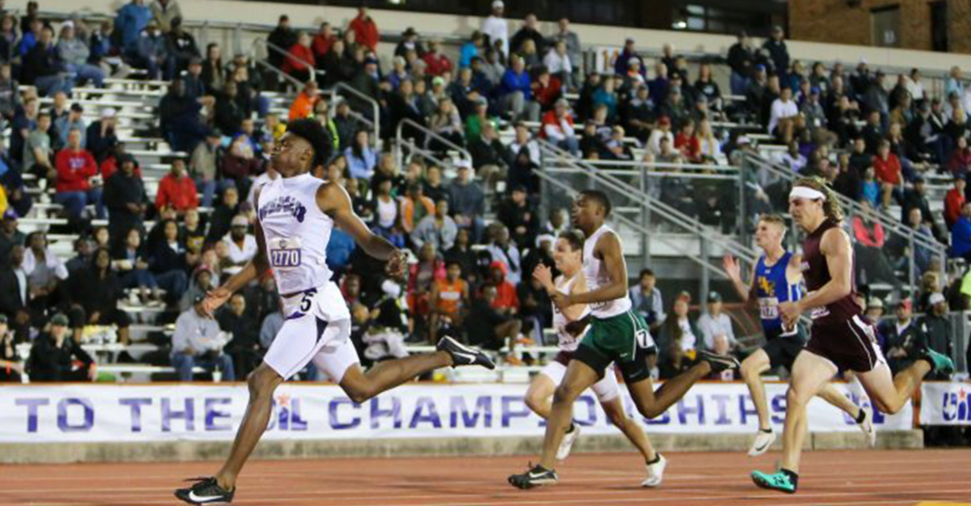 Wheatley Sprinter Robert Gregory makes noise at state track meet