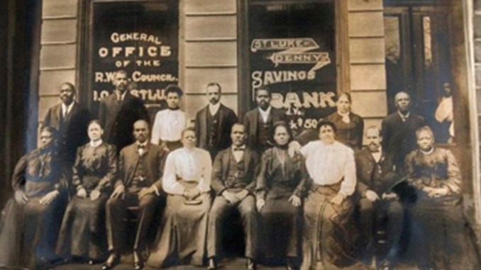 The St. Luke Penny Savings Bank in Richmond was one of the first Black-owned banks in the United States. (National Park Service; Maggie L. Walker National Historic Site)