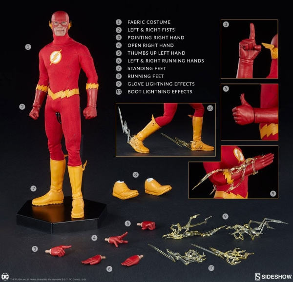 the flash action figure 1 6 sideshow