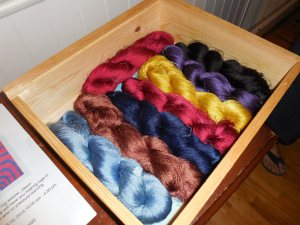 Fiber dyed by Rebecca showing depth of color saturation possible with natural dyes