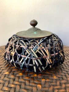 Woven Vessel with Lid