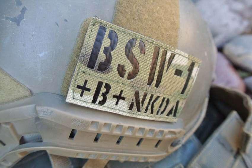 Practical Tactical Firearms IR ID Tag on an Ops Core Fast Helmet. Photo Credit: Blacksheepwarrior.com