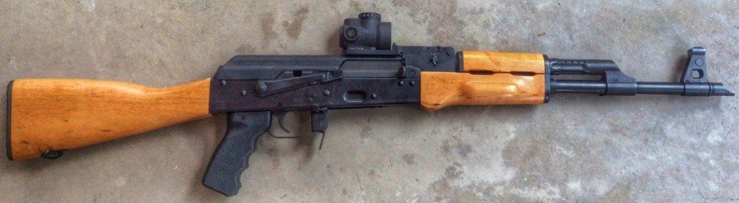 Attero Arms MRO mount on stock Century RAS 47