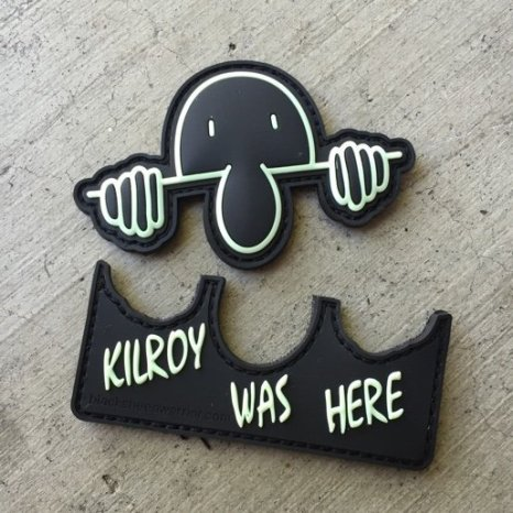 Black kilroy was here patch