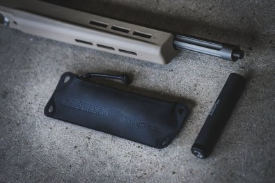 Small Magpul DAKA Suppressor Pouch with suppressor