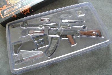 Goat Gun Ak-47 contents close up