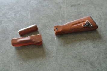 Goat Gun Ak-47 wood furniture