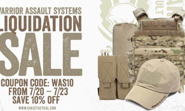 Warrior Assault Systems Liquidation Sale