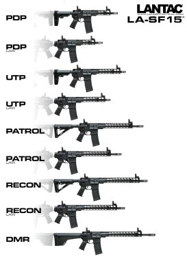 LA-SF15 Rifles & Pistols Linup
