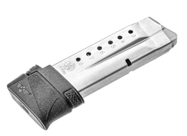 M&P Shield magazine with an Xtech +2 extension.