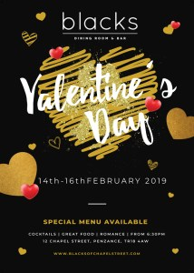 Valentine's food at Blacks of Chapel Street