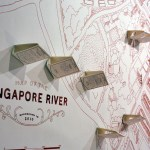 Display at Unearthed Exhibition at Singapore Art museum An example of art by the Psychogeographical Society