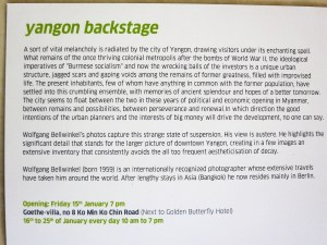 Yangon backstage English notes