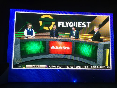 Flyquest Announcers discussing gaming