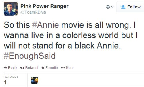 Twitter Racism at Annie