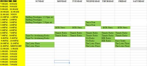 BTR Schedule