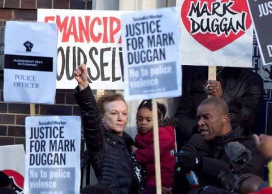 Protest for Mark Duggan