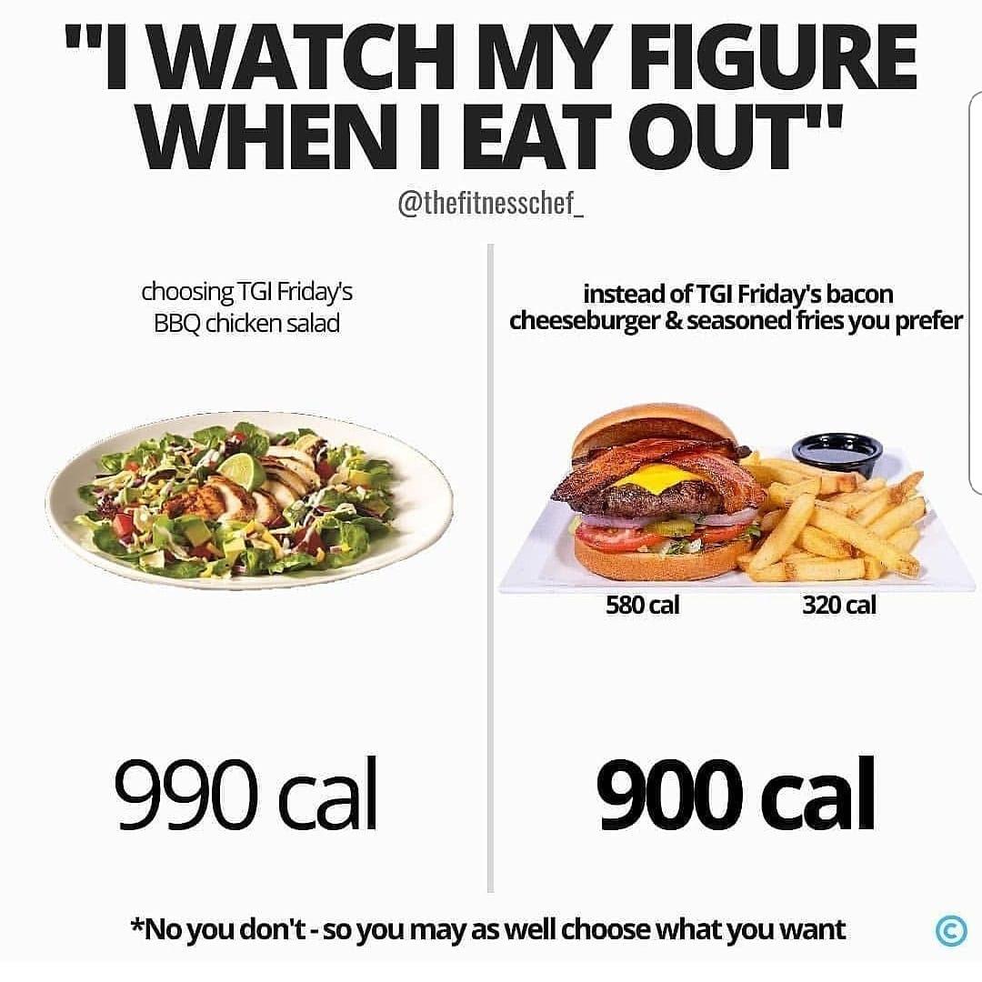 A Salad or Bacon Cheeseburger?