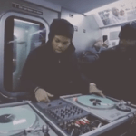 Jam Master Jay's son on the 1s and 2s on the NYC J train