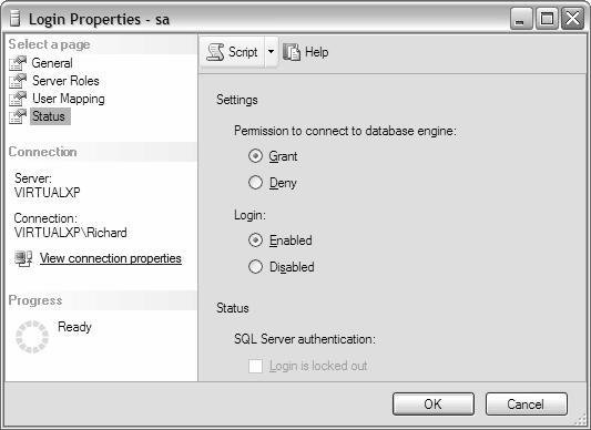 Disable SQL Server sa Account
