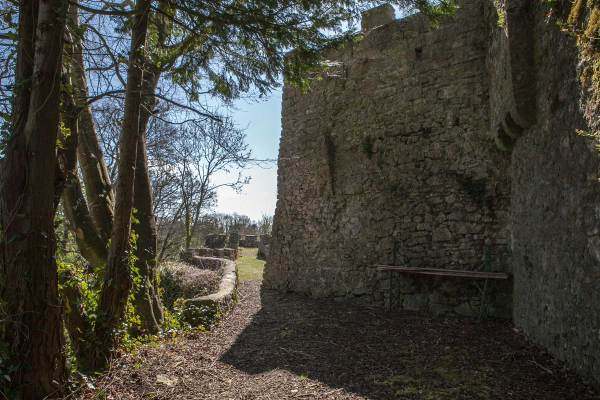 Medieval building with garderobe or Blarney Stone