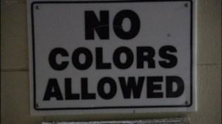 no colors allowed