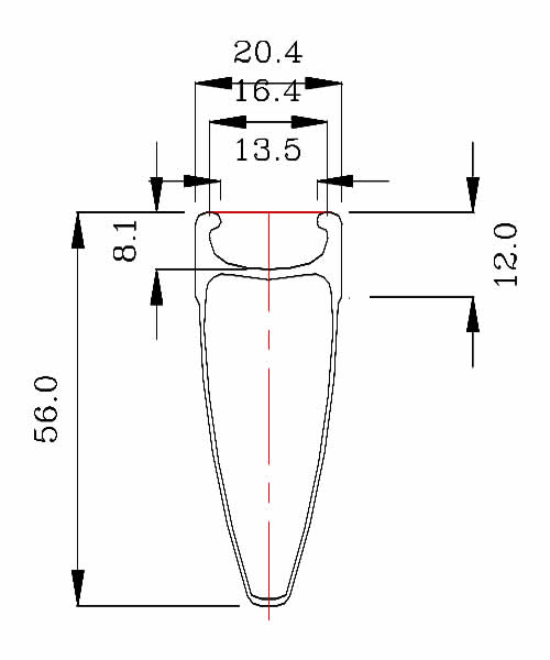 BladeX 4S AIRFORACE Rim Shape Clincher