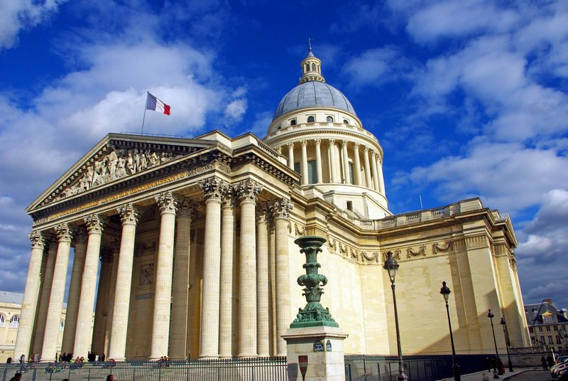 panthéon, paris, perancis