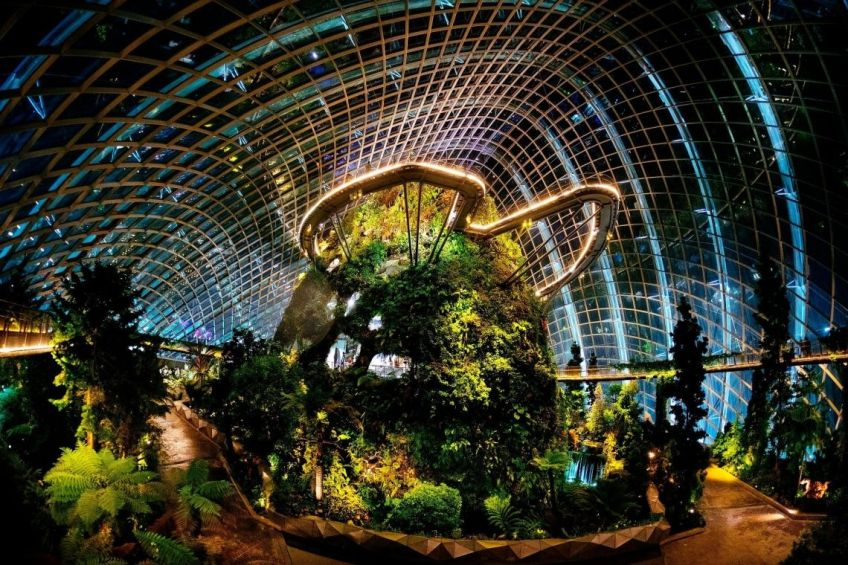 cloud-forest-dome, gardens by the bay, singapura