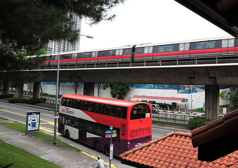transportasi umum singapura mrt dan bus