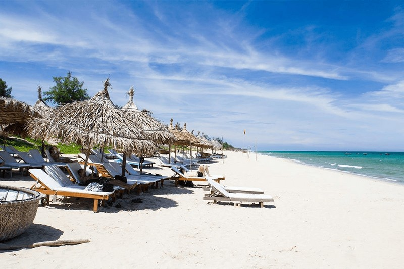 suasana pantai an bang, vietnam