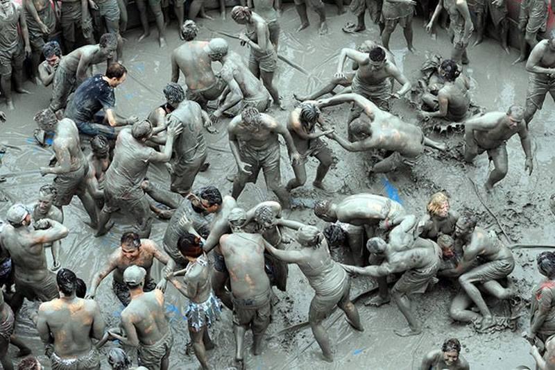 Boryeong Mud Festival, Korea Selatan