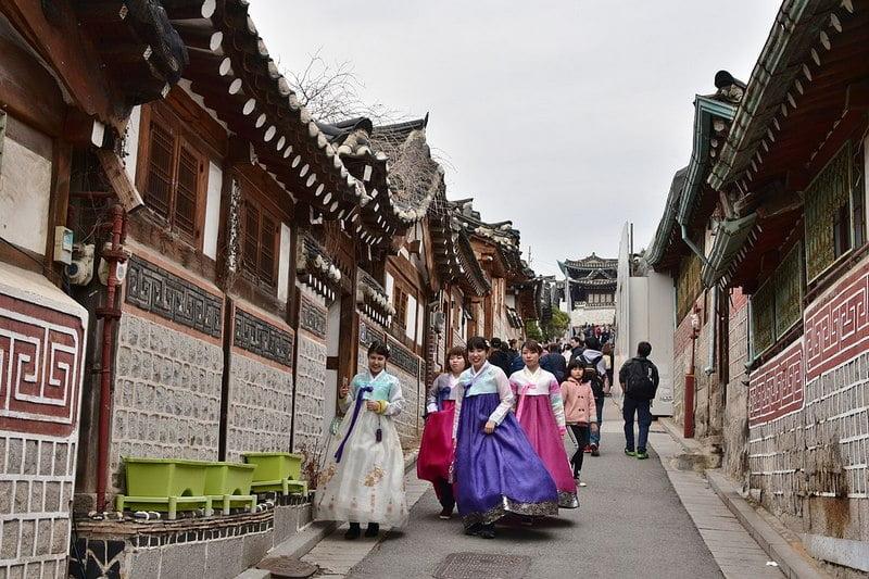 Bukchon Hanok Village, Korea Selatan