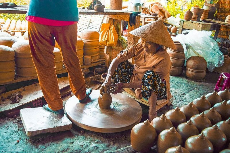 desa perajin gerabah thanh ha, vietnam