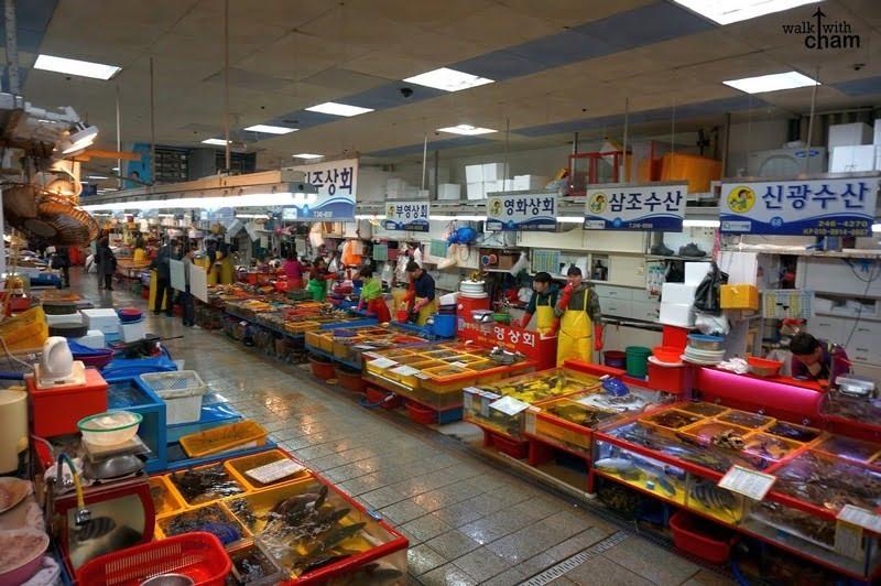 jagalchi market, busan, korea selatan