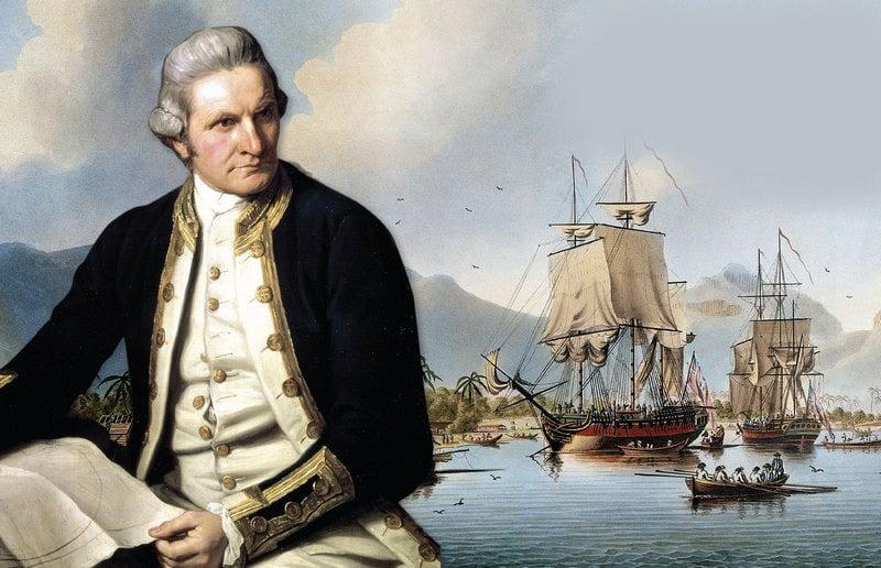 lukisan potret kapten james cook, penemu selandia baru