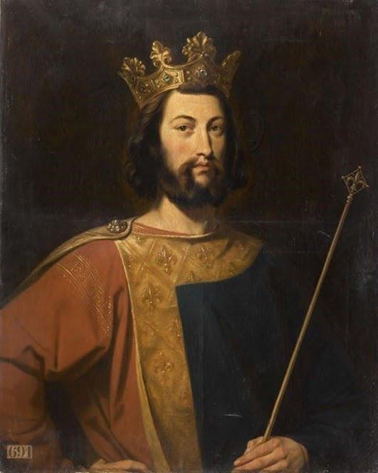 lukisan potret louis VII