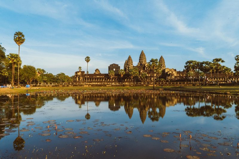 Parit di sekitar Angkor Wat, Kamboja