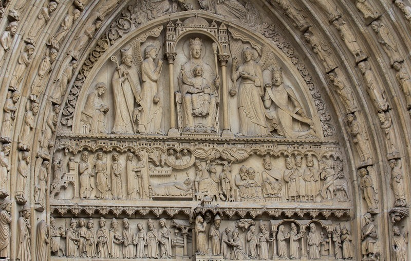 Portal Sainte-Anne, Notre Dame, Paris, Perancis