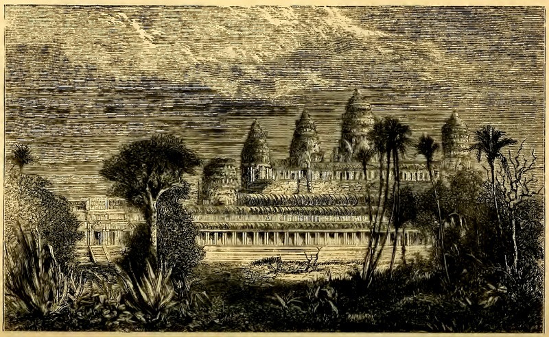 Sketsa Angkor Wat oleh Henri Mouhot