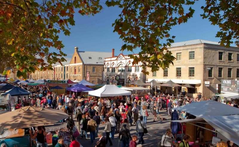 salamanca market, hobart, australia