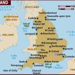 peta wilayah negara inggris
