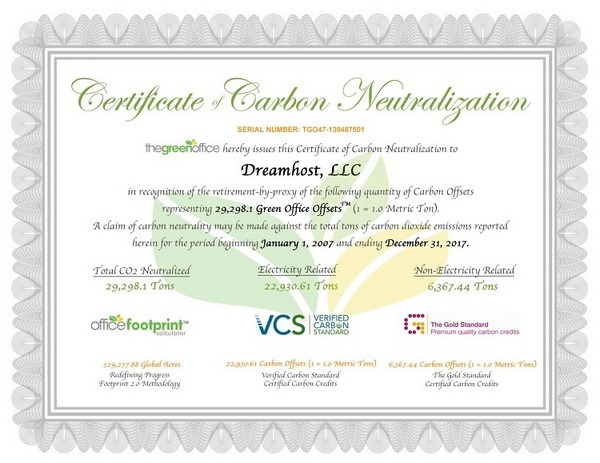 Contoh Carbon Offset Certificate (VER)