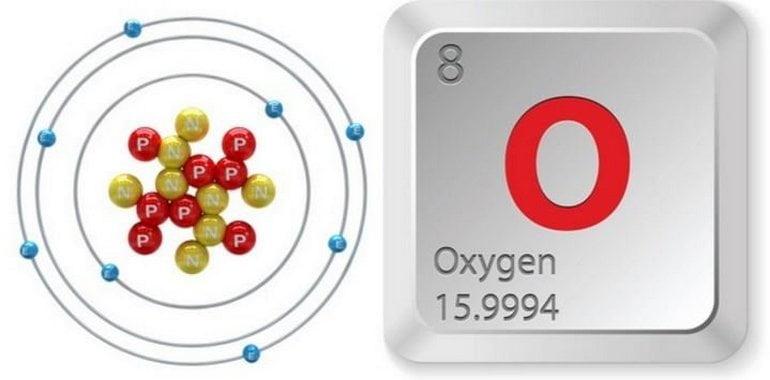 simbol unsur kimia oksigen (O)