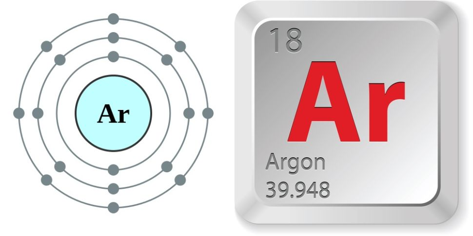 simbol kimia dan nomor atom unsur argon