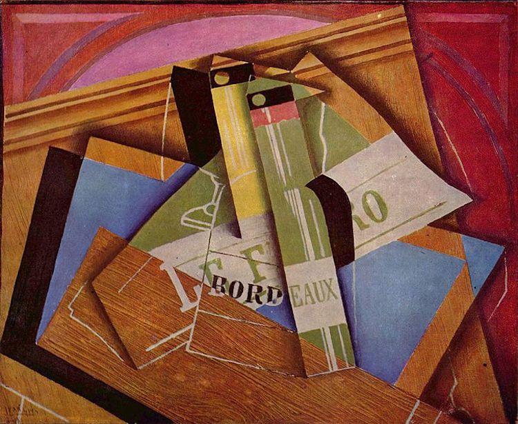 """Juan Gris, """"Still Life with Bordeuaux Bottle,"""" 1919"""