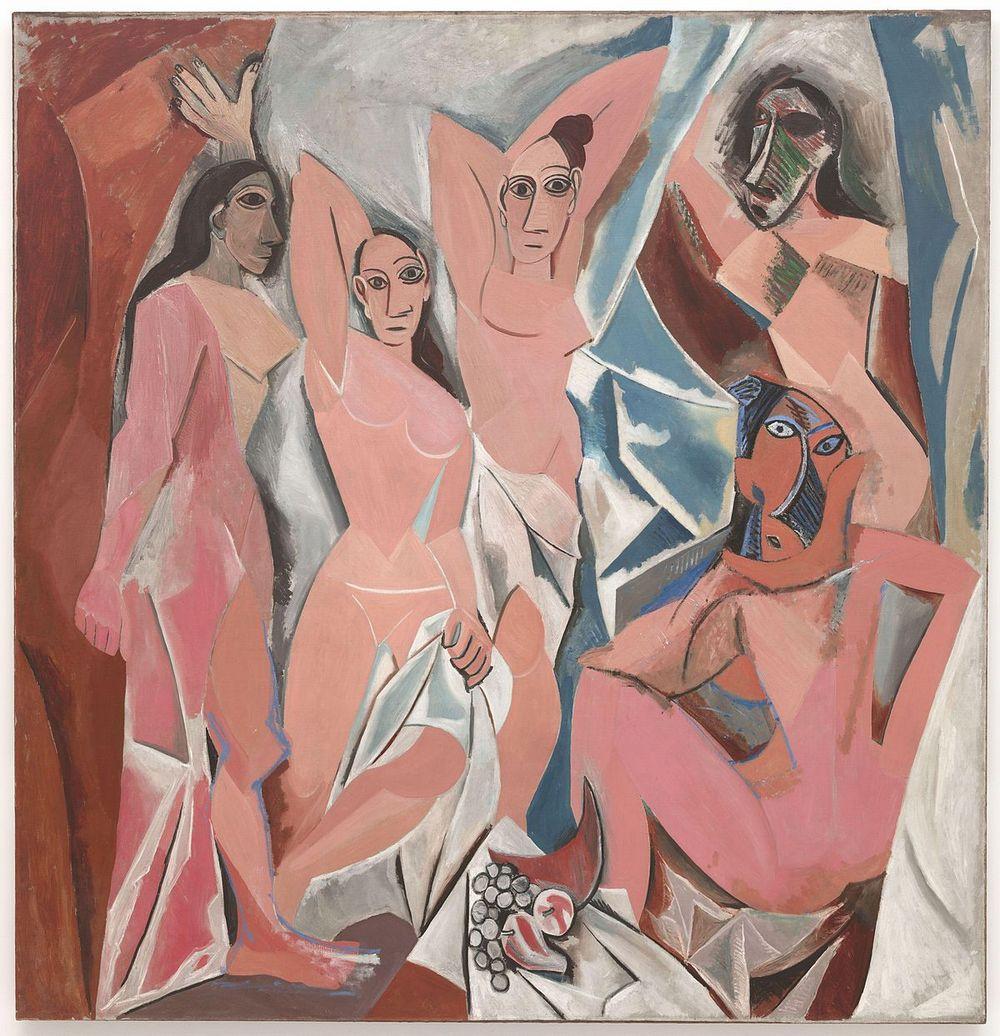 Les Demoiselles d'Avignon, by Pablo Picasso