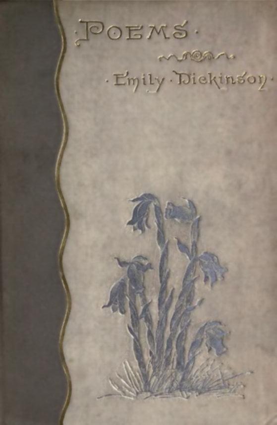 Sampul buku puisi Emily Dickinson edisi pertama, terbit tahun 1890