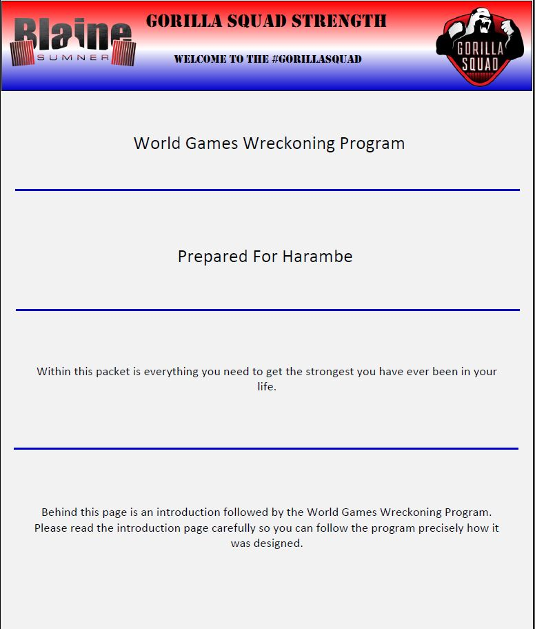 World Games Wreckoning Program 4