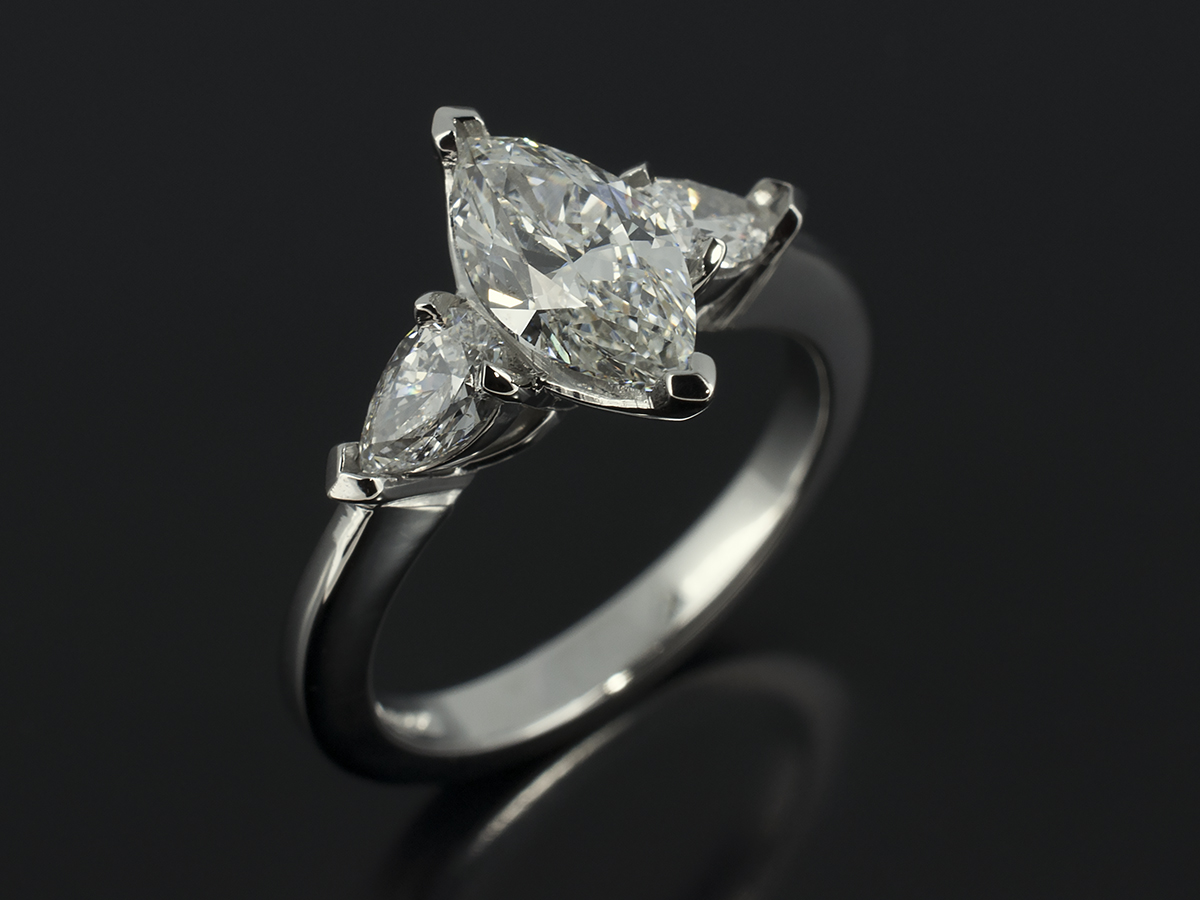 Pear Cut Marquise Cut And Heart Cut Diamond Engagement